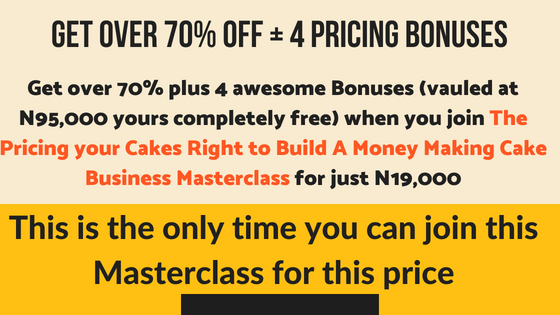 Pricing your Cakes Right to Build A Money Making Cake Business Masterclass pic